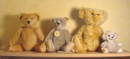 répliques d'ours en peluche du début du 20ème siècle